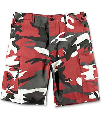 Rothco BDU Red Camo Cargo Shorts