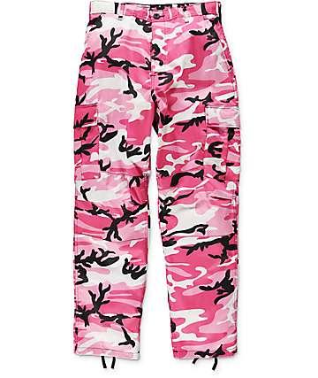 Rothco BDU pantalones cargos camuflados en rosa