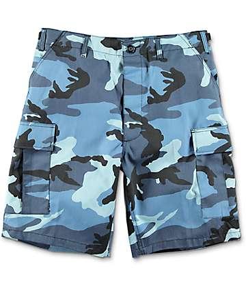 Rothco BDU shorts cargos en camuflado azul