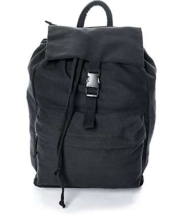 Rothco Black Canvas Backpack