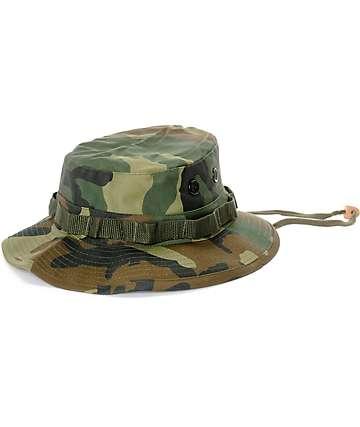 Rothco Boonie Woodland gorra bucket camuflada