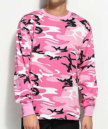 Rothco Pink Camo Long Sleeve T-Shirt