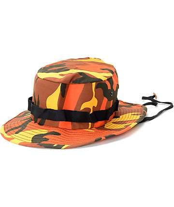 Rothco Savage Orange Camo Boonie Bucket Hat