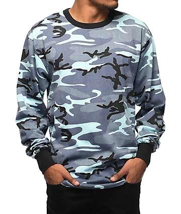 Rothco Sky Blue Camo Long Sleeve T-Shirt