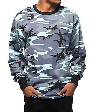 Rothco Sky Camo camiseta azul de manga larga