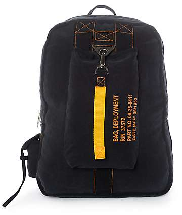 Rothco Vintage Canvas Flight Black Backpack