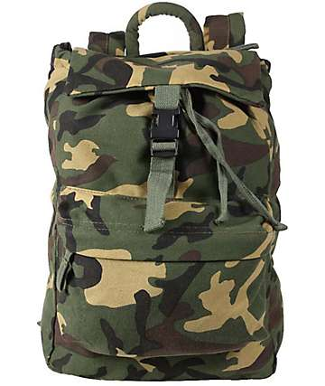 Rothco Woodland Camo Canvas Backpack
