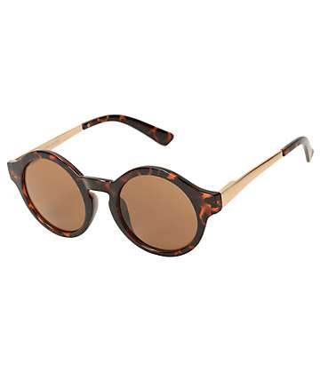 Round Eyes On You Tortoise Sunglasses