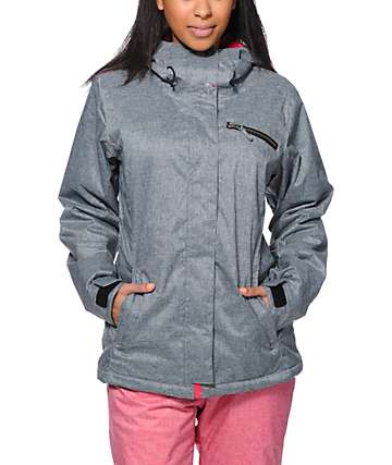 Roxy Band Camp 10K Grey Snowboard Jacket
