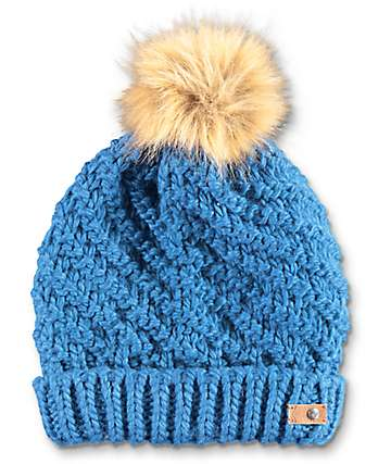 Roxy Blizzard Legion Blue Pom Beanie