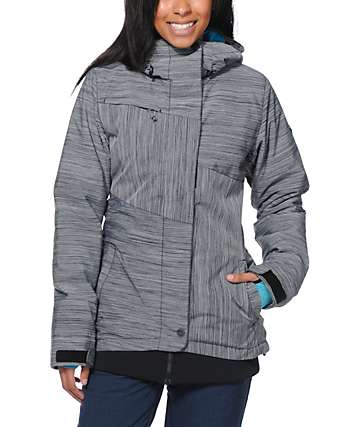 Roxy Bring It On Grey 10K Snowboard Jacket