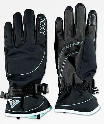 Roxy Jetty Black Snowboard Gloves
