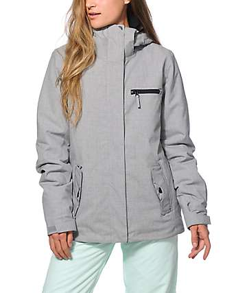 Roxy Jetty Solid Grey 10K Snowboard Jacket