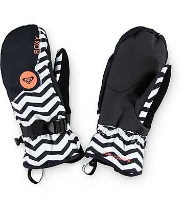 Roxy Jetty Zig Zag Stripe Snowboard Mittens