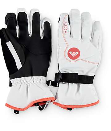 Roxy Jetty guantes blancos de snowboard
