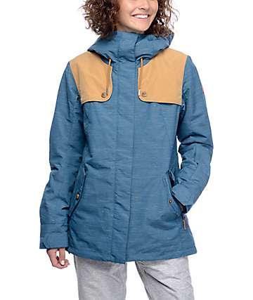 Roxy Lodge chaqueta de snowboard 10K en turquesa y caqui