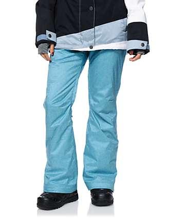 Roxy Nadia Blue Textile 10K Snowboard Pants
