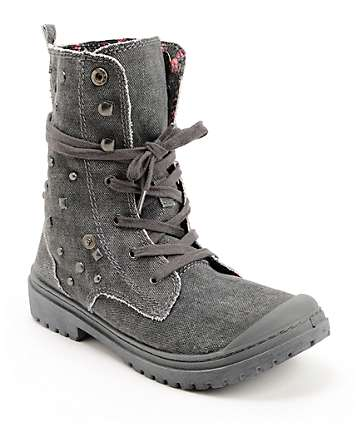 Roxy Needham Dark Grey Studded Boots