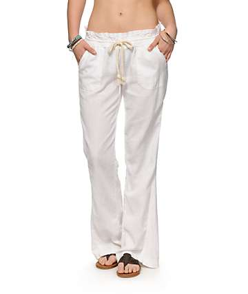 Roxy Oceanside White Beach Pants