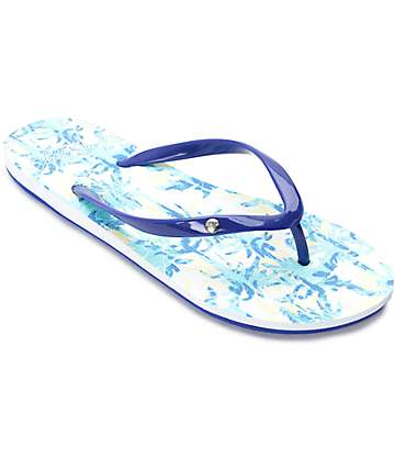 Roxy Portofino Blue Print Sandals