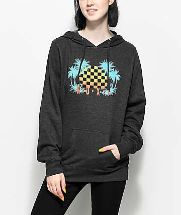 Roxy Radical Checkers Charcoal Hoodie