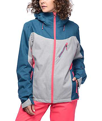 Roxy Sassy Legion Blue & Grey 10K Snowboard Jacket