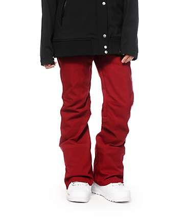 Roxy Spring Break Burgundy 15K Snowboard Pants