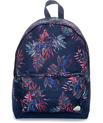 Roxy Sugar Baby 16L mochila en azul floral