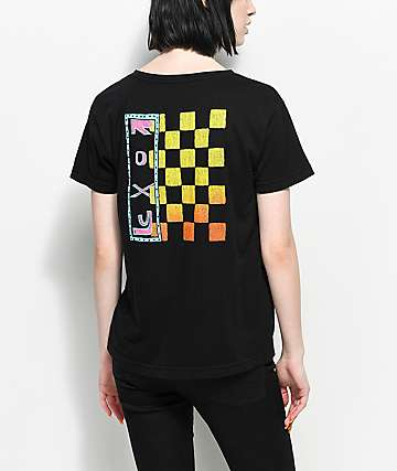 Roxy Surf Checkers Black T-Shirt