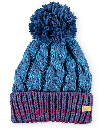 Roxy Torah Bright Blue Pom Beanie