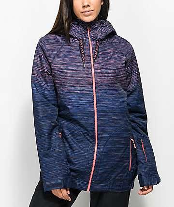 Roxy Valley Neon Grapefruit Space Dye 10K Snowboard Jacket