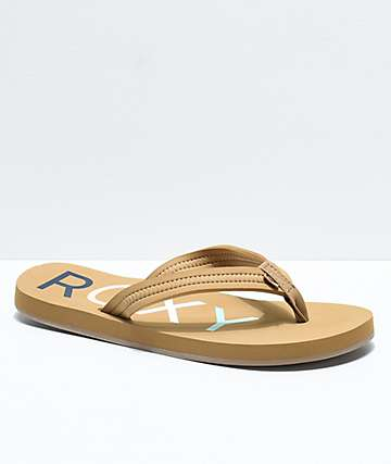 Roxy Vista Tan Sandals