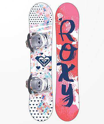 Roxy Youth Poppy Snowboard Package
