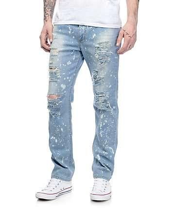 Rustic Dime Acid Drop pantalones rotos en azul claro