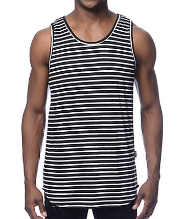 Rustic Dime Black Stripe Long Tank