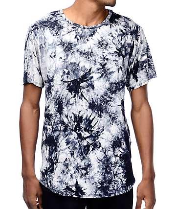 Rustic Dime Crystal camiseta con efecto tie dye en color negro