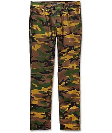 Rustic Dime Delta pantalones camuflados con cremalleras