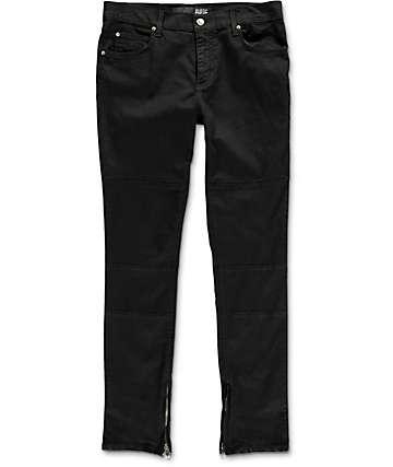 Rustic Dime Enduro Moto Zip Black Jeans