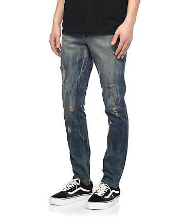 Rustic Dime Frontier jeans sucios rotos