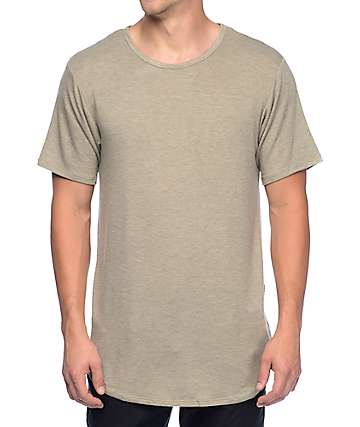 Rustic Dime Heather Tan Long T-Shirt