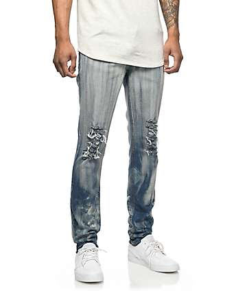 Rustic Dime Hendrix Acid Destructed Jeans