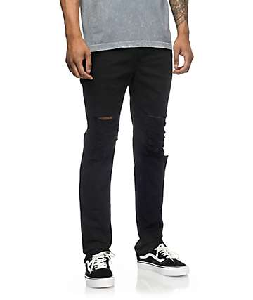 Rustic Dime Krueger Black Slashed Jeans