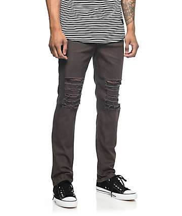 Rustic Dime Krueger jeans rotos en color plomo