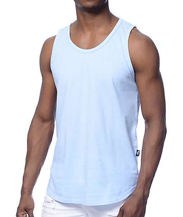 Rustic Dime Light Blue Long Tank