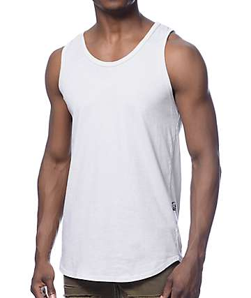 Rustic Dime Light Grey Long Tank