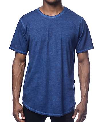 Rustic Dime Long Navy Oil Wash T-Shirt