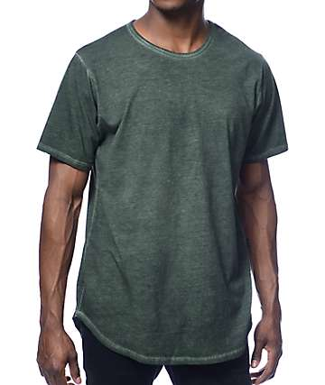 Rustic Dime Long Olive Oil Wash T-Shirt