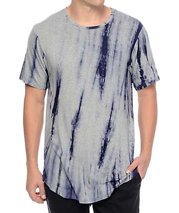 Rustic Dime Navy Tie Dye Long T-Shirt