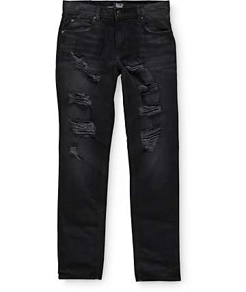 Rustic Dime Ripped Taper Fit Jeans