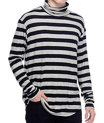 Rustic Dime Rugby Black & Grey Long Sleeve Turtleneck Shirt